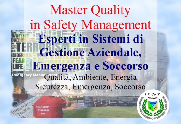 Master Management in Quality, Emergency and Safety